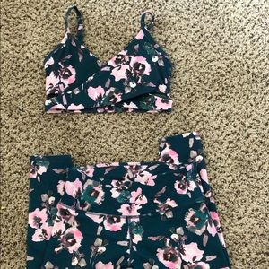 Cute Fabletics two-piece matching workout outfit